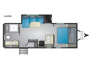 Wilderness 2400RB Floorplan Image