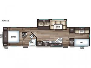 Cherokee Destination Trailers 39RESE Floorplan Image