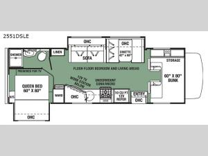 Forester LE 2551DSLE Chevy Floorplan Image