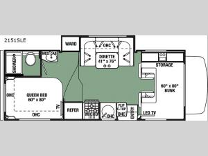 Forester LE 2151SLE Chevy Floorplan Image