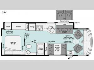 Vista 29V Floorplan Image