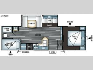 Salem 26DDSS Floorplan Image