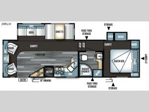 Salem 29RLW Floorplan Image
