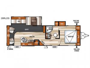 Salem 28RLDS Floorplan Image