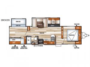 Salem 28CKDS Floorplan Image