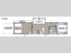 Puma Unleashed 373QSI Floorplan Image