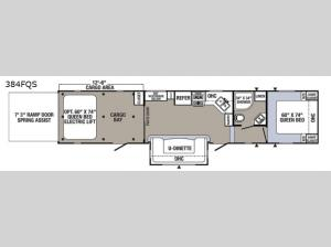 Puma Unleashed 384FQS Floorplan Image