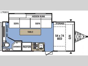 Clipper Ultra-Lite 17RBSS Floorplan Image