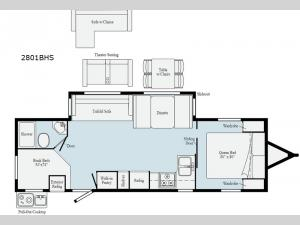 Minnie 2801BHS Floorplan Image