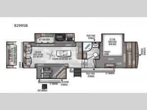 Rockwood Signature Ultra Lite 8299SB Floorplan Image