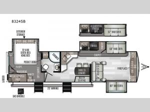 Rockwood Signature Ultra Lite 8324SB Floorplan Image