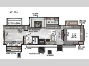 Rockwood Signature Ultra Lite 8326BH Floorplan Image
