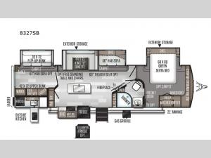 Rockwood Signature Ultra Lite 8327SB Floorplan Image
