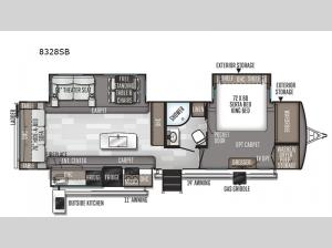 Rockwood Signature Ultra Lite 8328SB Floorplan Image