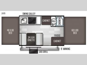 Flagstaff MAC Series 205 Floorplan Image