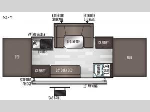 Flagstaff MAC Series 627M Floorplan Image