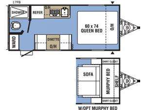 Clipper Ultra-Lite 17FB Floorplan Image