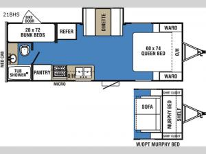 Clipper Ultra-Lite 21BHS Floorplan Image