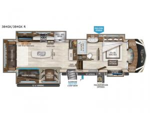 Solitude 384GK R Floorplan Image