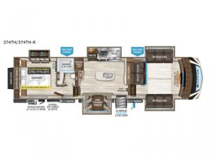 Solitude 374TH R Floorplan Image