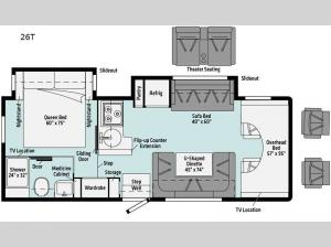 Spirit 26T Floorplan Image
