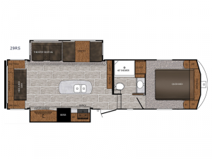 Crusader LITE 29RS Floorplan Image