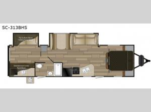 Shadow Cruiser 313BHS Floorplan Image