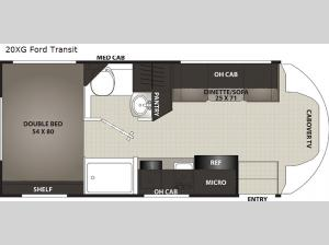 Cross Trek 20XG Ford Transit Floorplan Image