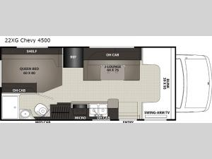 Cross Trek 22XG Chevy 4500 Floorplan Image