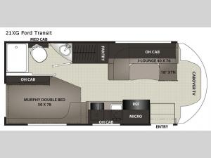 Cross Trek 21XG Ford Transit Floorplan Image