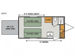 Sportsmen Classic 160TH Floorplan Image