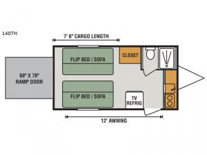 Sportsmen Classic 140TH Floorplan Image