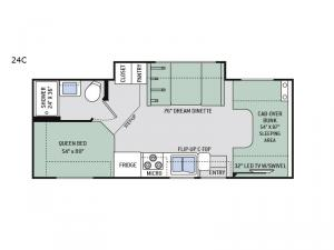 Four Winds 24C Floorplan Image
