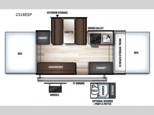Rockwood Extreme Sports 2318ESP Floorplan Image