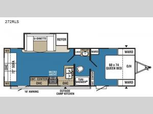 Clipper Ultra-Lite 272RLS Floorplan Image