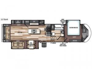 Wildwood Heritage Glen 337BAR Floorplan Image