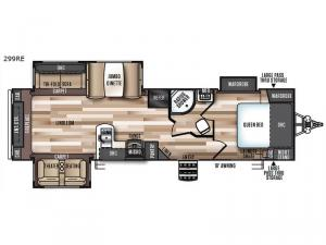 Wildwood Heritage Glen 299RE Floorplan Image