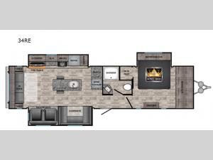 Volante 34RE Floorplan Image