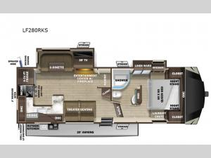 Open Range Light LF280RKS Floorplan Image