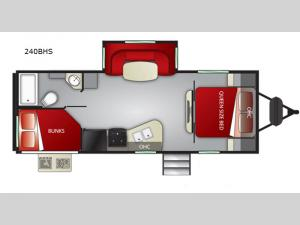 Shadow Cruiser 240BHS Floorplan Image