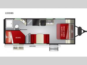 Shadow Cruiser 220DBS Floorplan Image