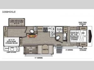 Freedom Express Liberty Edition 326BHDSLE Floorplan Image