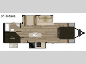 Shadow Cruiser 282BHS Floorplan Image