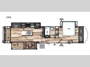 Wildwood Heritage Glen Elite Series 34RL Floorplan Image