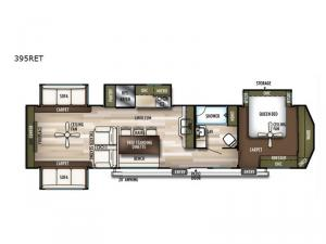 Wildwood Lodge 395RET Floorplan Image