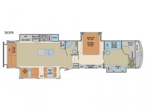 Columbus 1492 383FB Floorplan Image