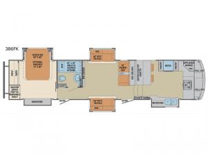 Columbus 1492 386FK Floorplan Image