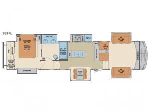 Columbus 1492 389FL Floorplan Image