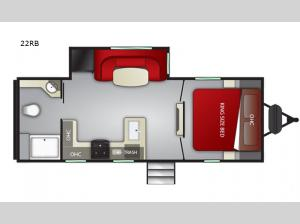 Radiance Ultra Lite 22RB Floorplan Image