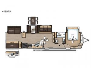 Catalina Destination Series 40BHTS Floorplan Image
